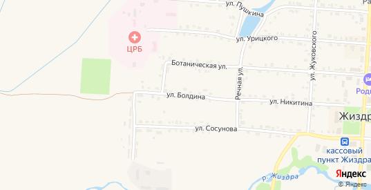 Улица Болдина в Жиздре с номерами домов на карте. Спутник и схема онлайн