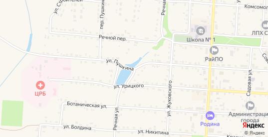 Речная улица в Жиздре с номерами домов на карте. Спутник и схема онлайн