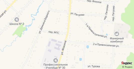 Улица Фокина в Жиздре с номерами домов на карте. Спутник и схема онлайн