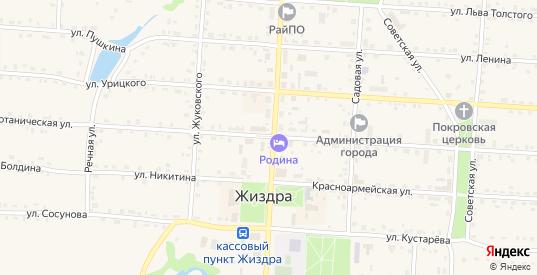 Улица Маршала Жукова в Жиздре с номерами домов на карте. Спутник и схема онлайн