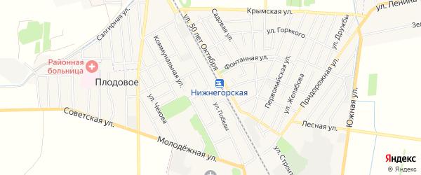 Карта Нижнегорского поселка в Крыму с улицами и номерами домов