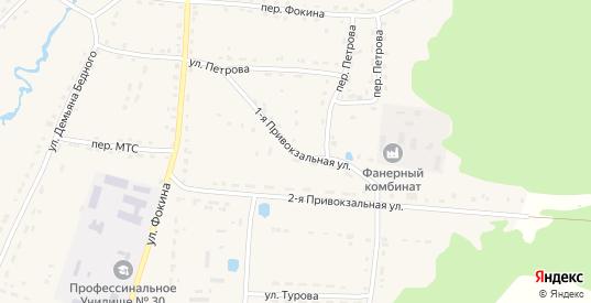 1-я Привокзальная улица в Жиздре с номерами домов на карте. Спутник и схема онлайн