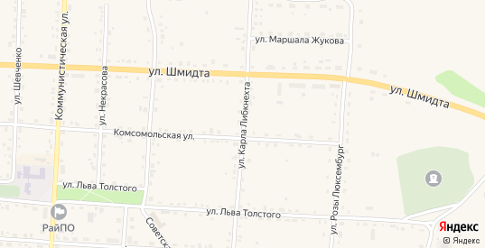 Улица Карла Либкнехта в Жиздре с номерами домов на карте. Спутник и схема онлайн