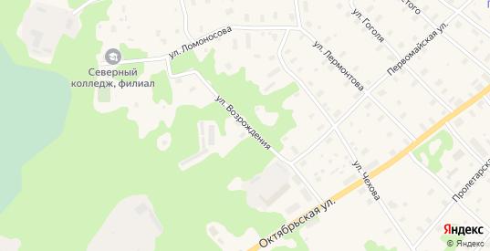 Улица Возрождения в Беломорске с номерами домов на карте. Спутник и схема онлайн