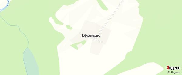 Карта деревни Ефремово в Тверской области с улицами и номерами домов