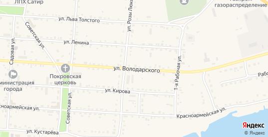 Улица Володарского в Жиздре с номерами домов на карте. Спутник и схема онлайн
