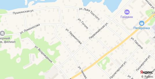 Улица Лермонтова в Беломорске с номерами домов на карте. Спутник и схема онлайн