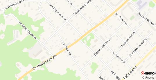 Октябрьская улица в Беломорске с номерами домов на карте. Спутник и схема онлайн