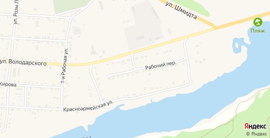 Рабочий переулок в Жиздре с номерами домов на карте. Спутник и схема онлайн
