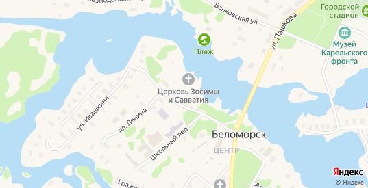 Рыбацкая улица в Беломорске с номерами домов на карте. Спутник и схема онлайн