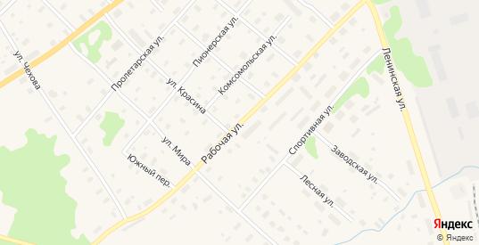 Рабочая улица в Беломорске с номерами домов на карте. Спутник и схема онлайн