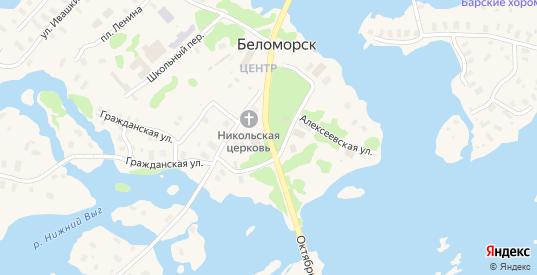 Поморская улица в Беломорске с номерами домов на карте. Спутник и схема онлайн