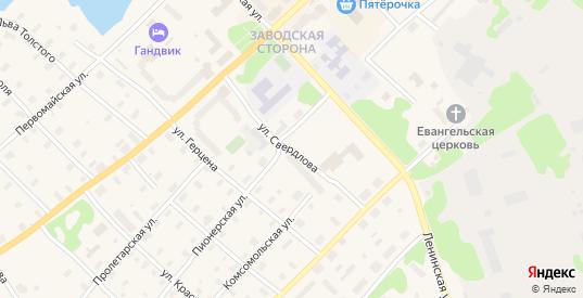 Улица Свердлова в Беломорске с номерами домов на карте. Спутник и схема онлайн