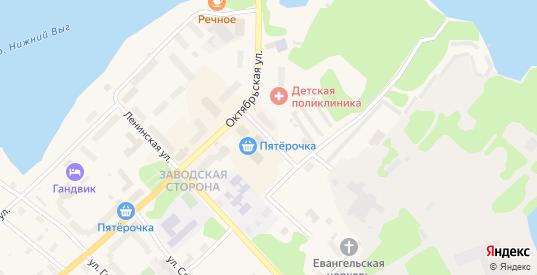 Карельская улица в Беломорске с номерами домов на карте. Спутник и схема онлайн