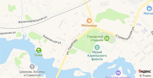 Улица Пашкова в Беломорске с номерами домов на карте. Спутник и схема онлайн
