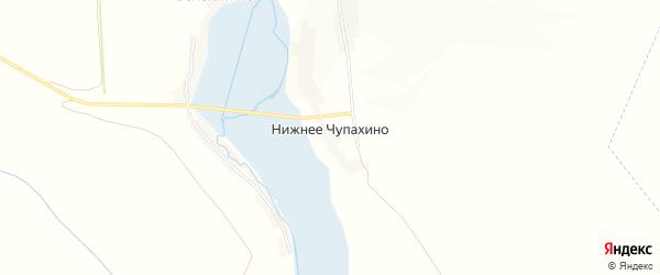Карта села Нижнее Чупахино в Курской области с улицами и номерами домов