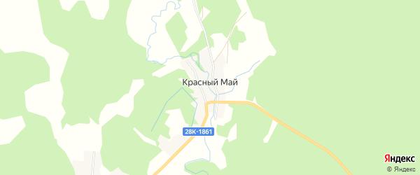Карта поселка Красного Май города Удомли в Тверской области с улицами и номерами домов