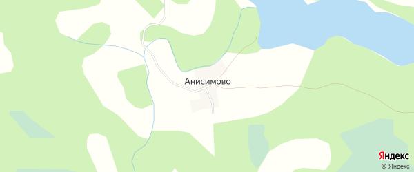 Карта деревни Анисимово города Удомли в Тверской области с улицами и номерами домов