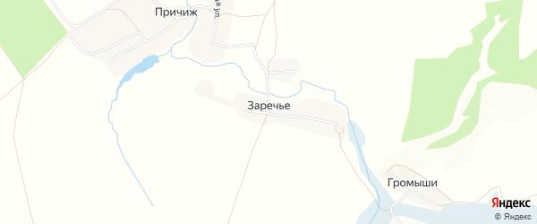 Карта поселка Заречья в Брянской области с улицами и номерами домов