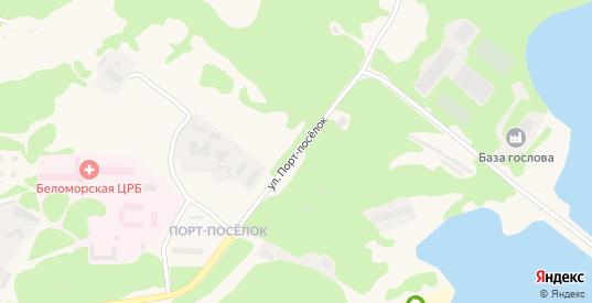 Улица Порт-поселок в Беломорске с номерами домов на карте. Спутник и схема онлайн