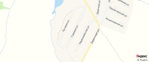 Садовая улица на карте поселка Лопандино с номерами домов