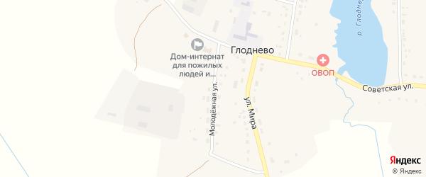 Молодежная улица на карте села Глоднево с номерами домов