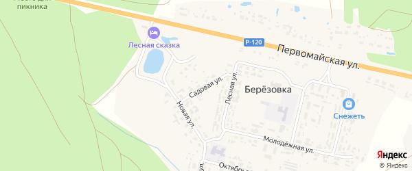 Садовая улица на карте поселка Березовки с номерами домов