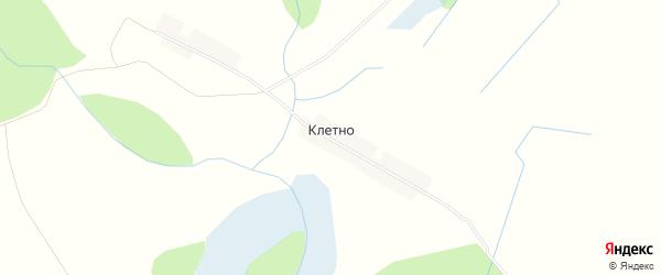 Карта деревни Клетно в Калужской области с улицами и номерами домов