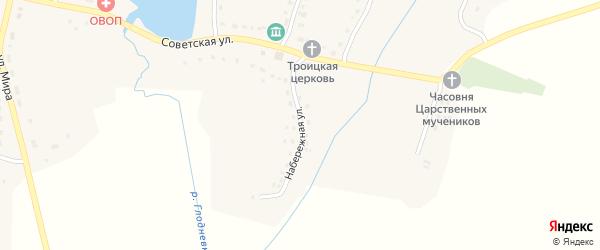 Набережная улица на карте села Глоднево с номерами домов