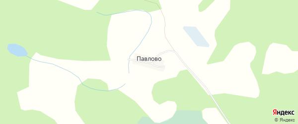 Карта деревни Павлово города Удомли в Тверской области с улицами и номерами домов