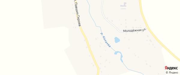 Улица Павших Героев на карте села Хотеева Брянской области с номерами домов