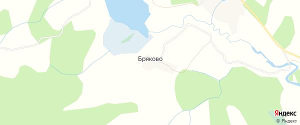 Карта деревни Бряково города Удомли в Тверской области с улицами и номерами домов