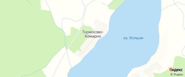 Карта деревни Тормосово-Комарно города Удомли в Тверской области с улицами и номерами домов