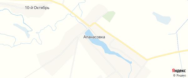 Карта села Апанасовки в Курской области с улицами и номерами домов