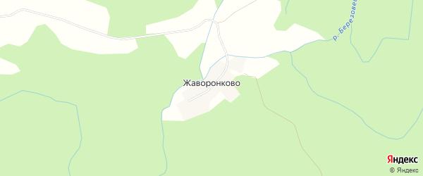 Карта деревни Жаворонково города Удомли в Тверской области с улицами и номерами домов