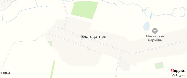 Карта Благодатного села в Курской области с улицами и номерами домов