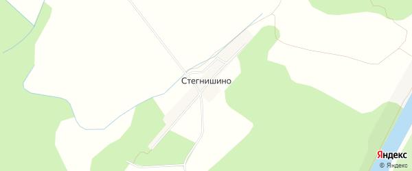 Карта деревни Стегнишино в Тверской области с улицами и номерами домов