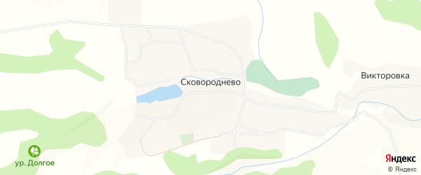Карта села Сковороднево в Курской области с улицами и номерами домов