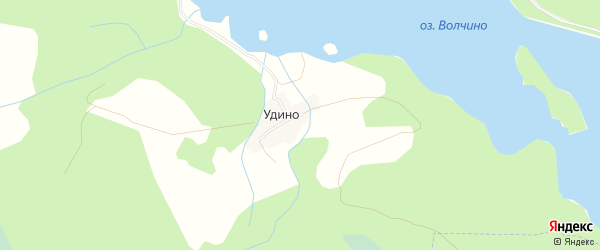 Карта деревни Удино города Удомли в Тверской области с улицами и номерами домов