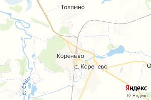 Карта пос. Коренево Курская область