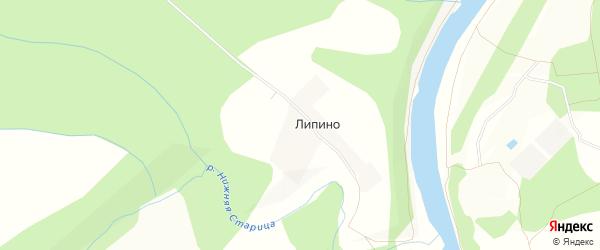 Карта деревни Липино в Тверской области с улицами и номерами домов