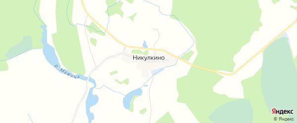 Карта деревни Никулкино города Удомли в Тверской области с улицами и номерами домов