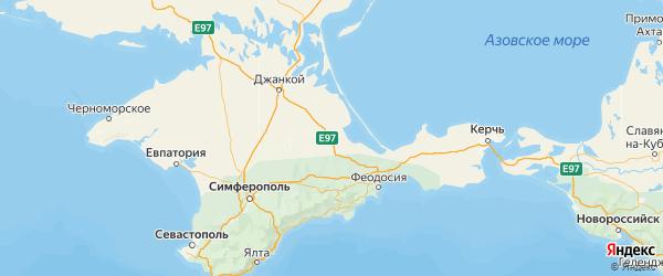 Карта Советского района Республики Крыма с городами и населенными пунктами