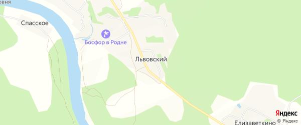 Карта Львовского поселка в Тверской области с улицами и номерами домов