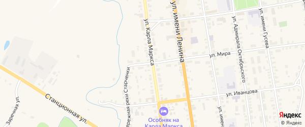 Улица Карла Маркса на карте Старицы с номерами домов