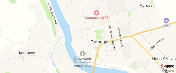 Территория гаражный массив N5 на карте Старицы с номерами домов
