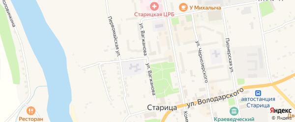 Улица Вагжанова на карте Старицы с номерами домов