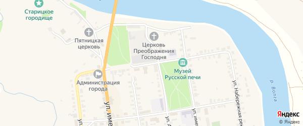 Аптекарский переулок на карте Старицы с номерами домов