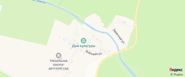 Речной переулок на карте поселка Курба Ленинградской области с номерами домов