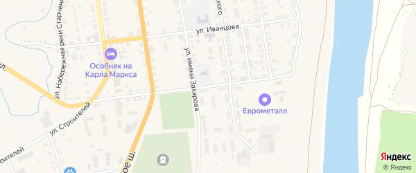 Улица Александра Завидова на карте Старицы с номерами домов